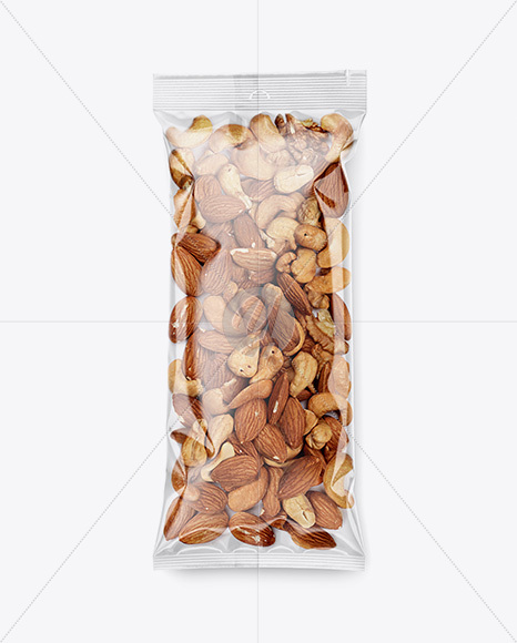 Clear Plastic Pack w/ Nut Mix Mockup