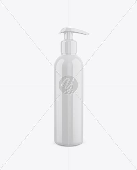Glossy Pump Bottle Mockup