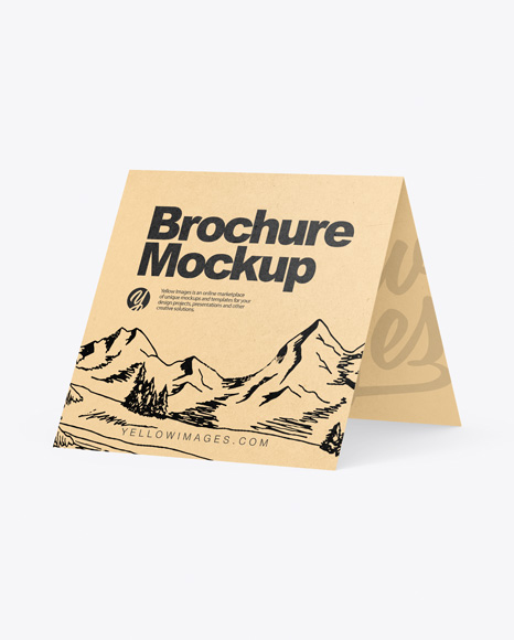 Download Kraft Brochure PSD Mockup
