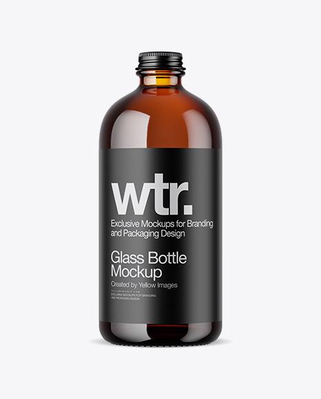Download Amber Bottle PSD Mockup