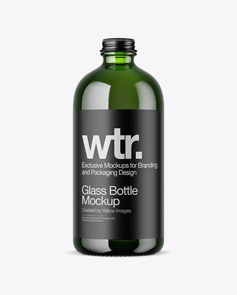 Download Green Bottle PSD Mockup