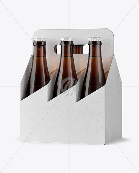 Kraft 6 Pack Beer Bottle Mockup