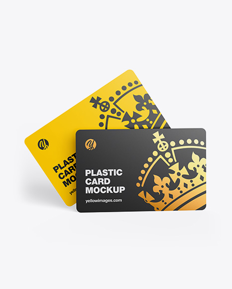 Download Two Plastic Cards PSD Mockup