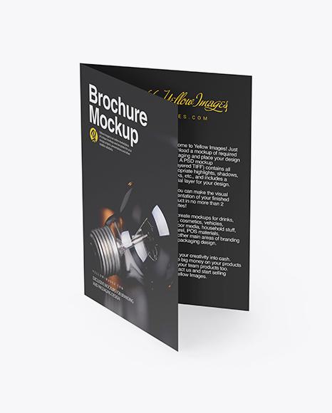 Download A5 Brochure PSD Mockup