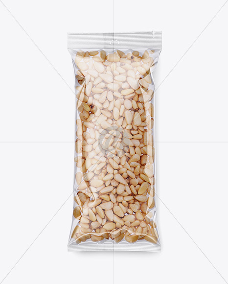 Clear Plastic Pack w/ Pine Nuts Mockup