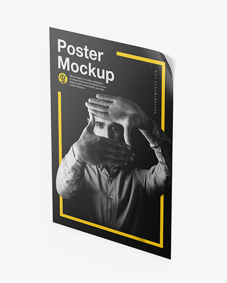 Download Textured Poster PSD Mockup