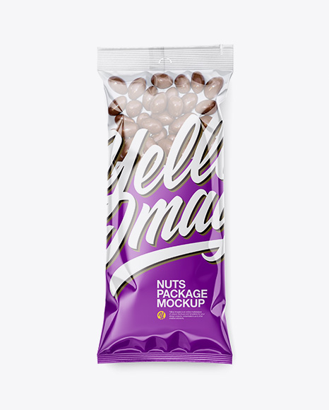 Clear Plastic Pack w/ Chocolate Nuts