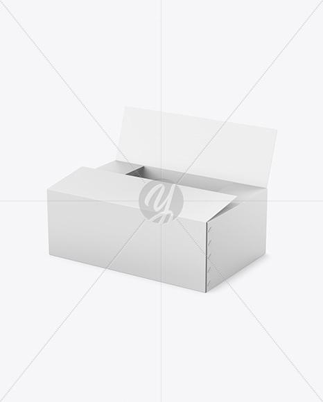 Opened Paper Box Mockup