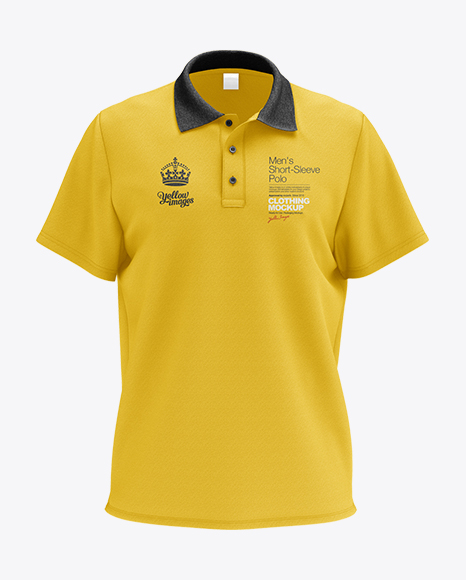 Download Black Polo T Shirt Mockup Yellowimages