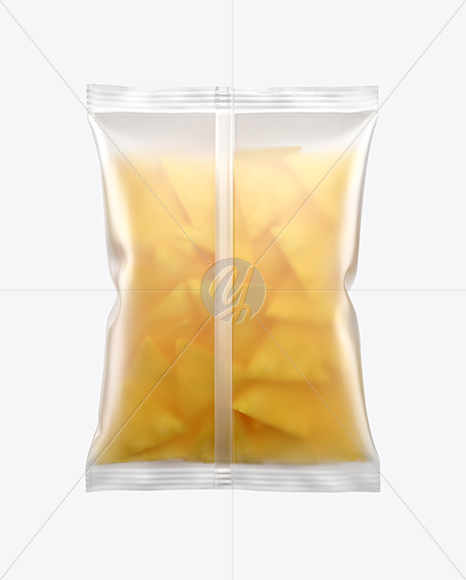 Frosted Bag With Nachos Mockup