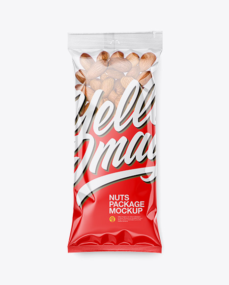 Clear Plastic Pack w/ Almonds Mockup