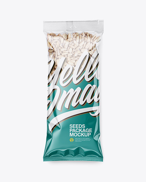 Clear Plastic Pack w/ Sunflower Seeds Mockup
