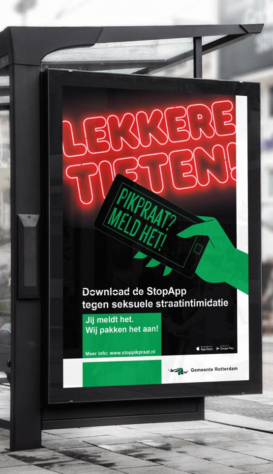 Foto van campagne op straat.