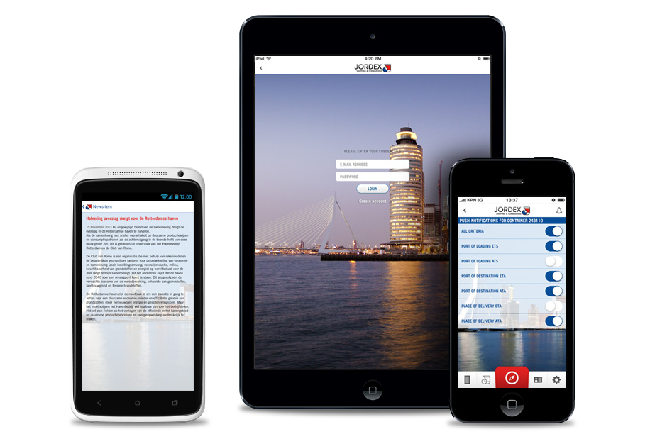 Jordex track trace app yipyip for Badkamer ontwerpen app ipad