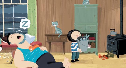 De Kleine Walvis app - Maak vader niet wakker spel