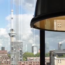 Het uitzicht over Rotterdam