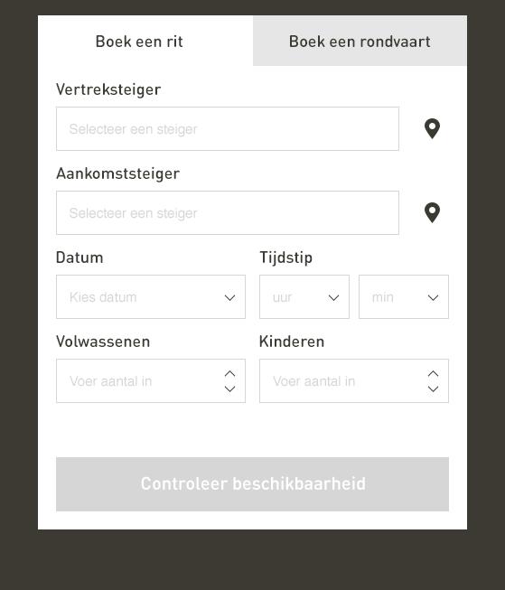 Steiger zoeken in het online reserveren van Watertaxi Rotterdam.