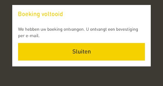 De reservering daadwerkelijk insturen in de online reserveren tool van Watertaxi Rotterdam.