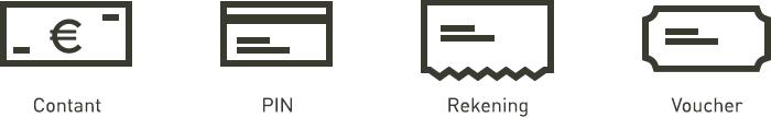 Watertaxi Schippers app - Contant, PIN, Rekening & Voucher