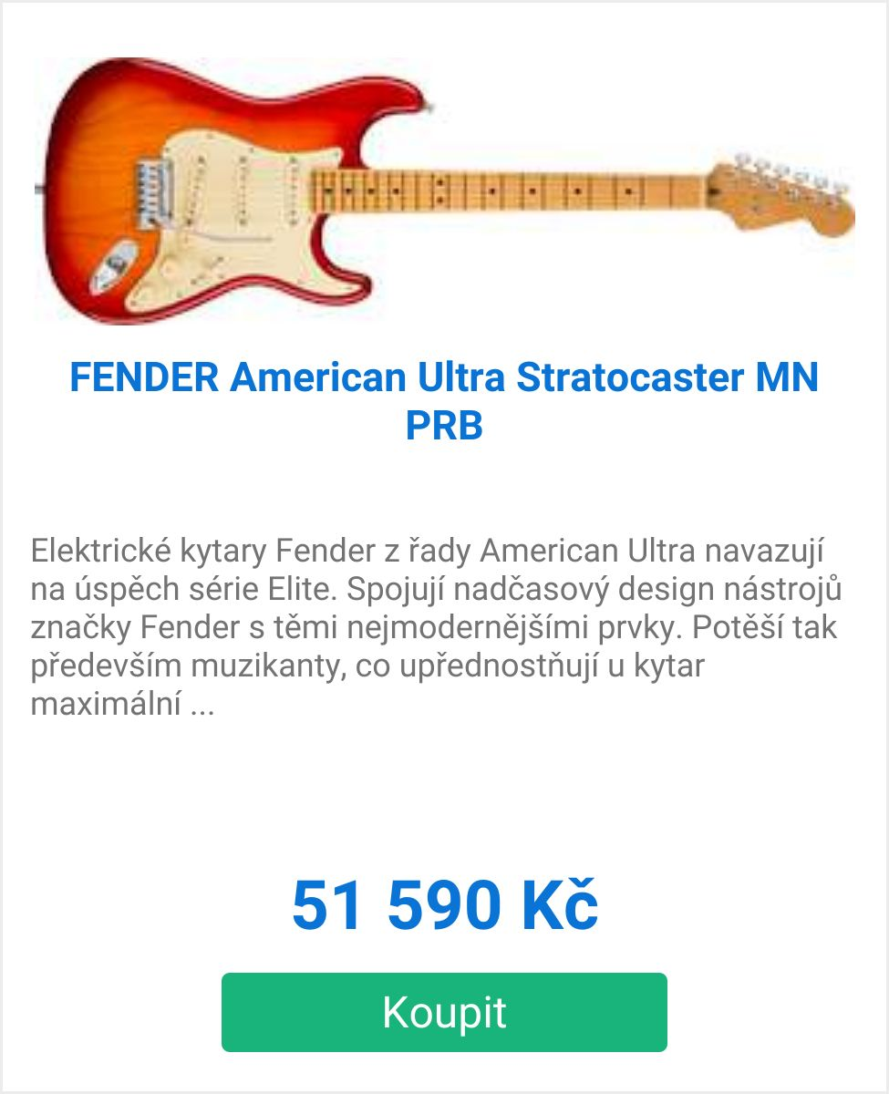 American Ultra Stratocaster MN PRB