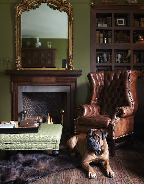 All Of The Décor In This Room Is British Inspired, Even Down To The Pet  Dog! The Traditional Single Chesterfield Sofa And Vintage Mirror Frame  Create A ...