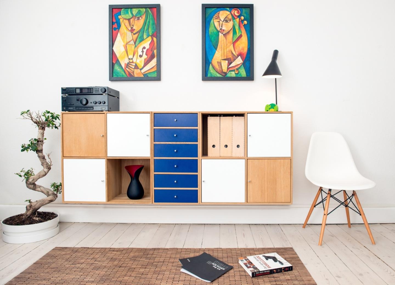 Framed artwork for living room