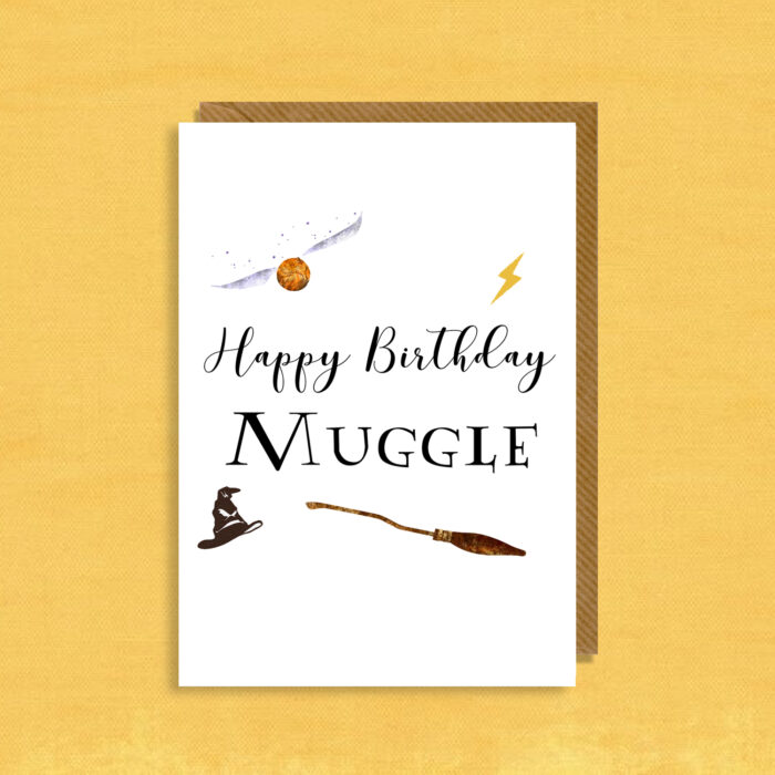 Harry Potter Inspired Birthday Card Happy Birthday Muggle Your Image 2 Canvas