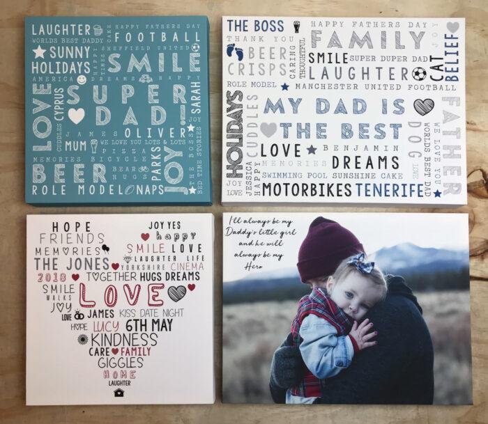Personalised Word Art Prints | Personalised Word Canvas