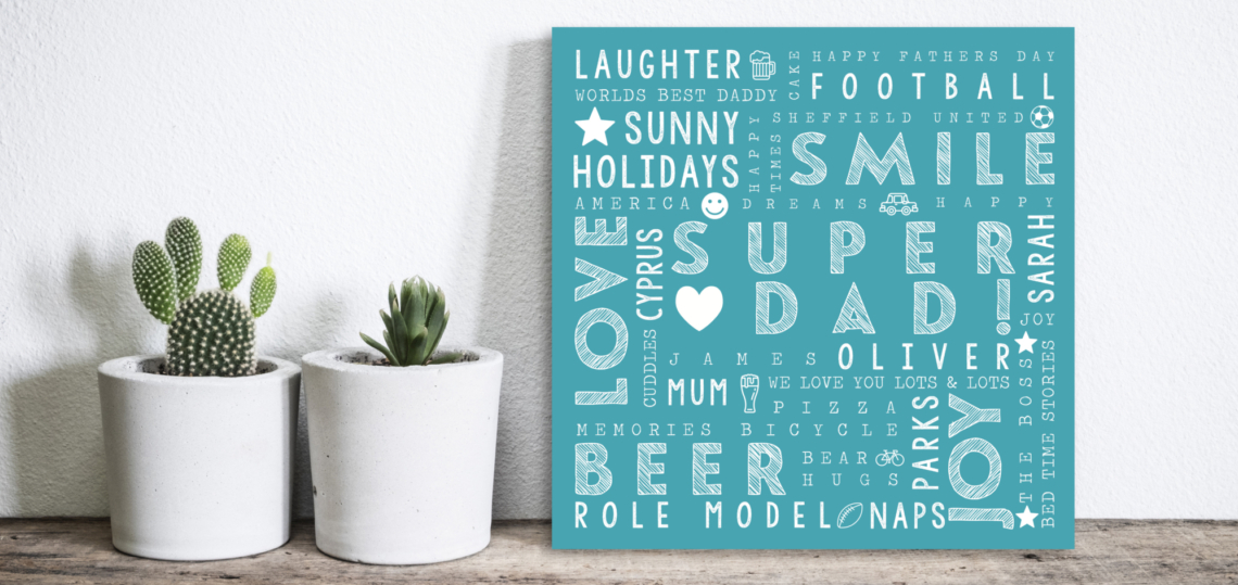 Personalised Word Art Prints | Personalised Word Canvas