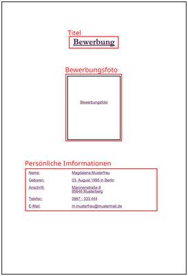 Deckblatt Für Die Bewerbung Zur Ausbildung Oder Dualem Studium