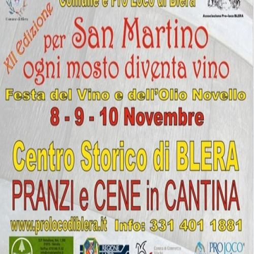 Logo ' A San Martino ogni Mosto diventa Vino'   Blera