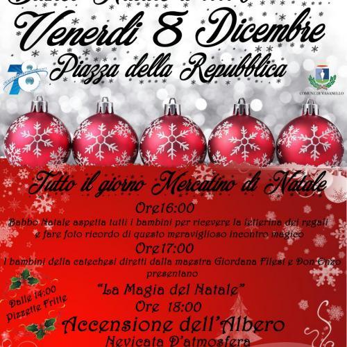 Logo Bianco Natale  a  Vasanello