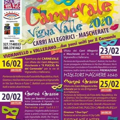 Logo Carnevale Vigna Valle 2020