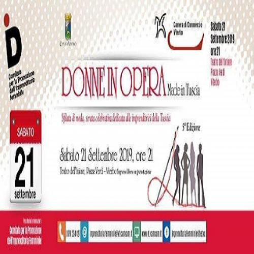 Logo DONNE IN OPERA   Made in Tuscia