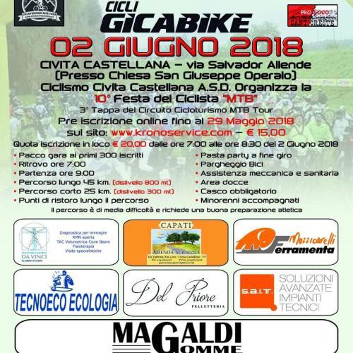 Logo Festa del ciclista 'MTB'   X edizione