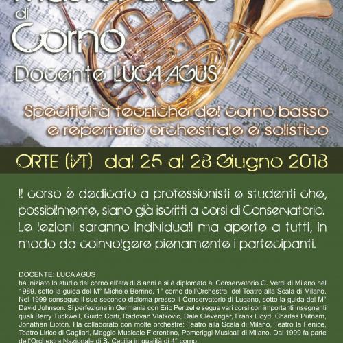 Logo Master class di Corno.  Orte
