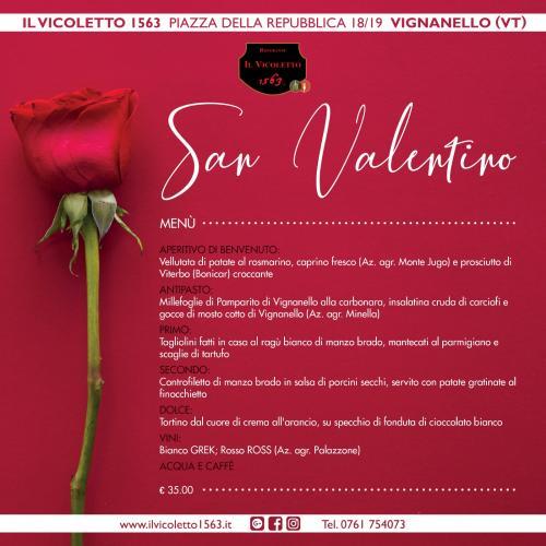 Logo 'San Valentino' Ristorante il Vicoletto 1563, Vignanello