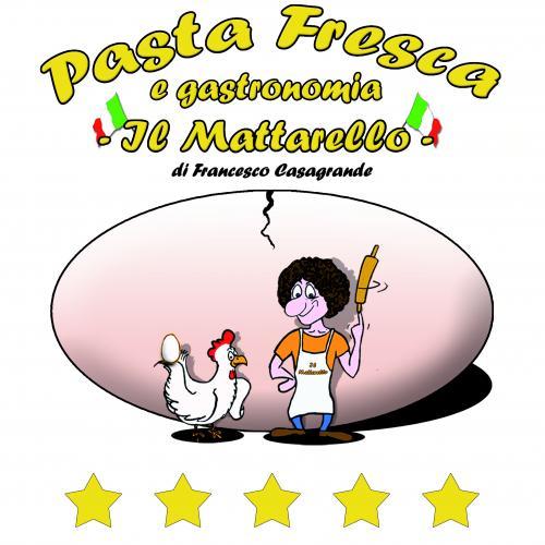 Logo Pasta Fresca Il Mattarello Mangiare e Bere