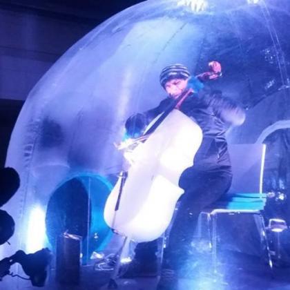 Foto L'Ice-Cello con Giovanni Sollima a Ponte di Legno