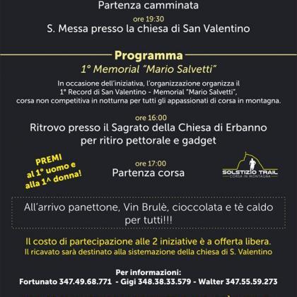 Foto Memorial Salvetti e III Camminata Notturna a San Valentino