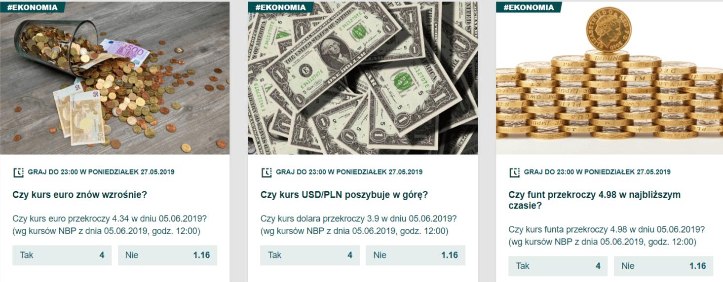 BETFAN z zakładami na opinie o zmianie walut