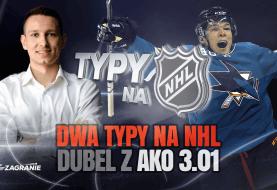 Dubel na poniedziałkową noc z NHL - Rekiny pomogą?