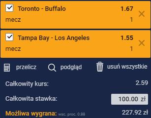 Typy NHL na poniedziałek - Tampa Bay i Toronto
