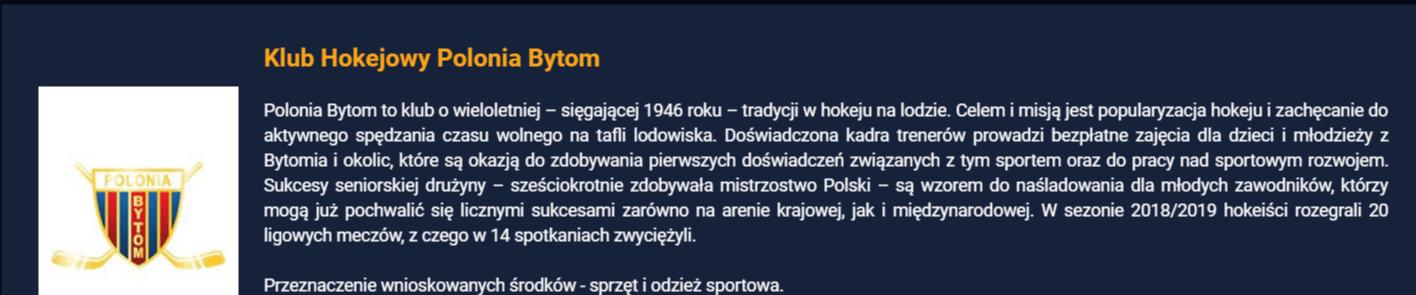 Polonia Bytom w Sport Twoją Szansą