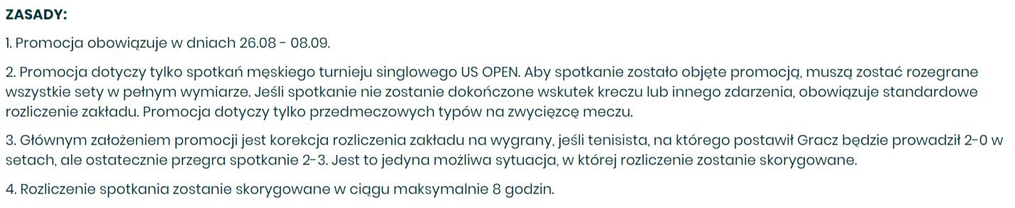Betfan z bonusem na US Open