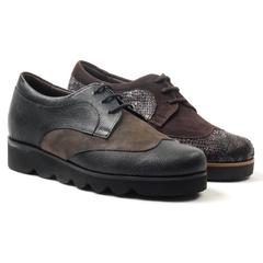 Zapatos comodos para plantillas l nogal cor 14 02 4