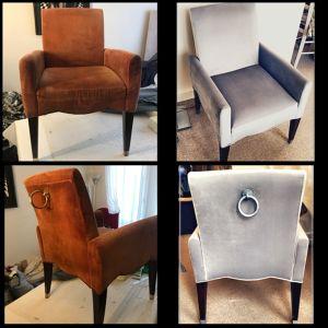 Recouverture d'une chaise Julia