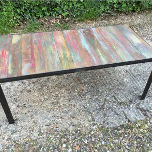 Table basse industrielle bois et métal Philip