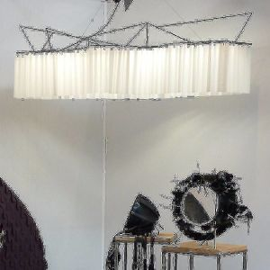 Lampe suspension en organdi Marie
