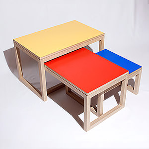 "Tables gigones ""Collection - Couleur"" Pierre"